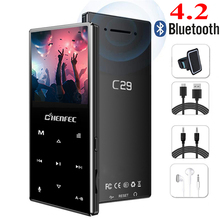 Nowy odtwarzacz MP3 Bluetooth metalowy przycisk dotykowy obsługa karty SD bezstratny odtwarzacz muzyczny MP3 HIFI z radiem FM, dyktafonem, e bookiem