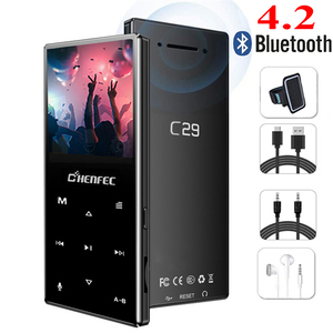 Image 1 - Nowy odtwarzacz MP3 Bluetooth metalowy przycisk dotykowy obsługa karty SD bezstratny odtwarzacz muzyczny MP3 HIFI z radiem FM, dyktafonem, e bookiem
