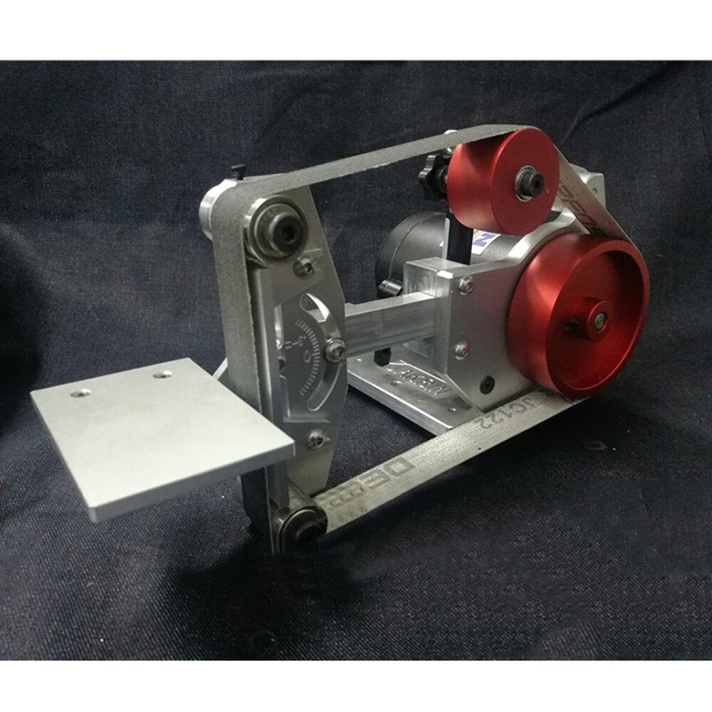 220V Desktop Belt Sander 500W DIY Woodworking Polishing Machine 0-6600RPM 660x25MM Belt Machine Knife Sharpener