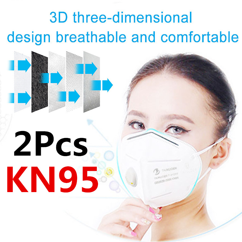 Reusable Respirator 6 Layers Filter FFP2 FFP3 KN95 Mask Valved Face Mask Protection Face Mask Mouth Cover Pm2.5 Dust Masks 3