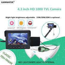 GAMWATER 15M 1000TVL Fish Finder Macchina Fotografica Subacquea di Pesca del Ghiaccio 4.3