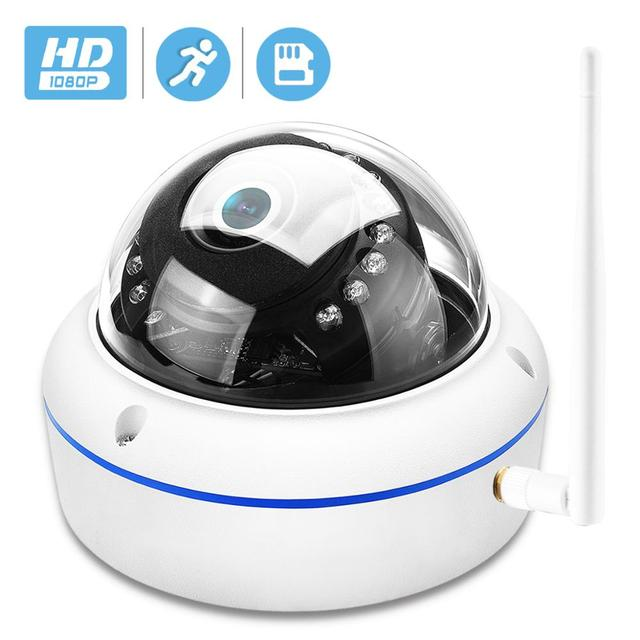 HD1080P Vandal proof IP Camera WiFi SD Card Slot 64Gb Motion Ai Detect Alert Dome 2MP Audio Security CCTV Camera ONVIF P2P ICSee