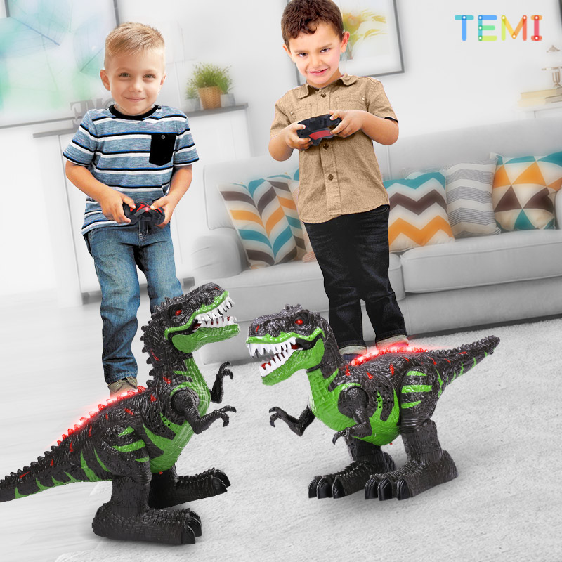Remote Control Dinosaurs Electric Robot Sound Light Toy Excavation Jurassic Animals T Rex Educational Toys for Children Boys