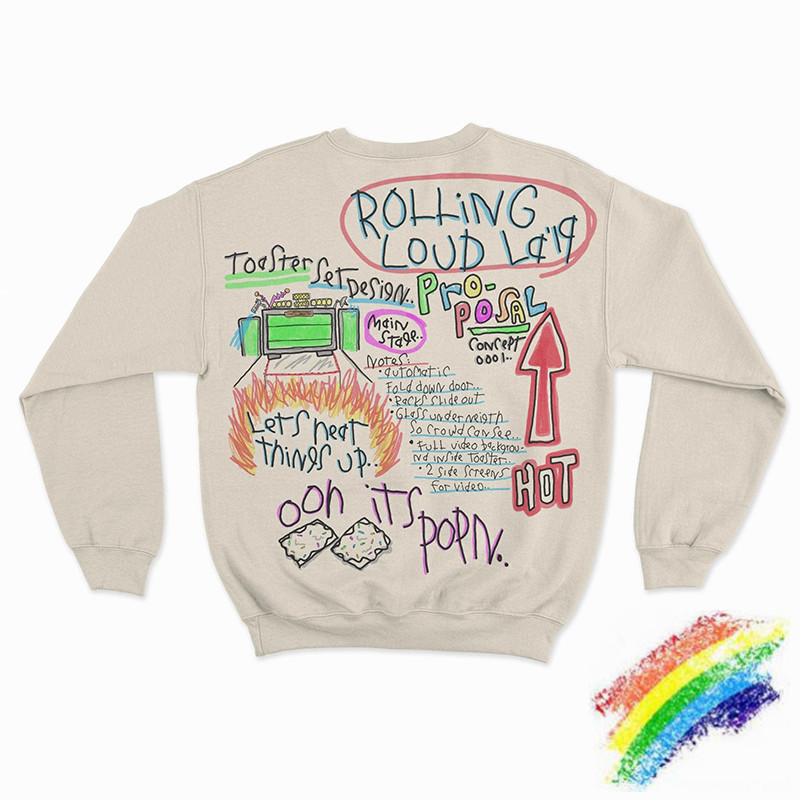 Rolling LA Popping Natural Crewneck Men Women Best High Sweatshirts Fashion Hoodie Hooded