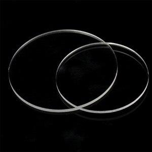5pcs Thickness 1mm Round Plexiglass plastic Sheet acrylic board organic glass polymethyl methacrylate