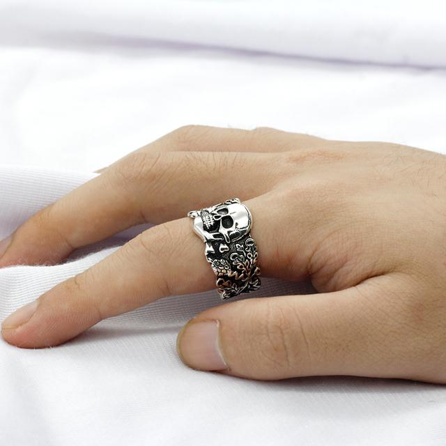 ORIGINAL 925 STERLING SILVER SKULL RING
