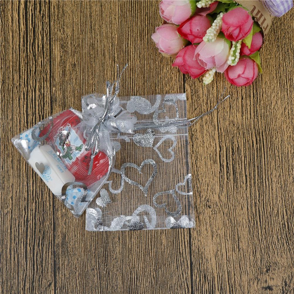Wholesale 50Pcs/lot 7x9cm Fashion Drawstring Bag Organza Bag Candy Bags Jewelry Pouch Wedding Party Favor Gift Bag