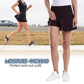 Aktywne Skorts spódnice spódnice damskie Plus Size spódnice ołówkowe damskie spodenki sportowe do biegania spódnica do tenisa Golf trening sportowy spódnica tanie i dobre opinie WOMEN Poliester Stałe Pasuje prawda na wymiar weź swój normalny rozmiar