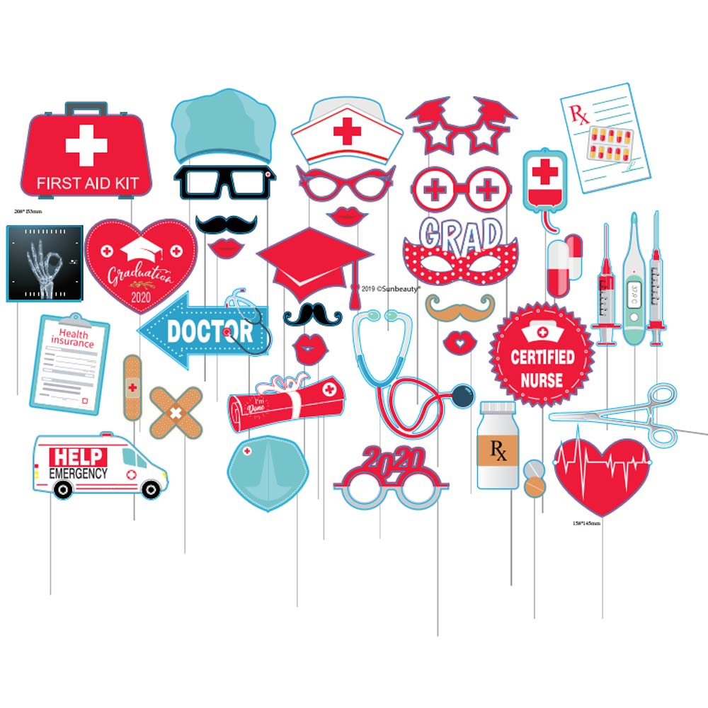2020 Graduation Party Supplies.Us 4 48 10 Off Doctor Nurse Photo Booth Props Graduation Party Decor Congrats Grad Medical Themed Photo Supplies Class Of 2020 New Arrival In Party
