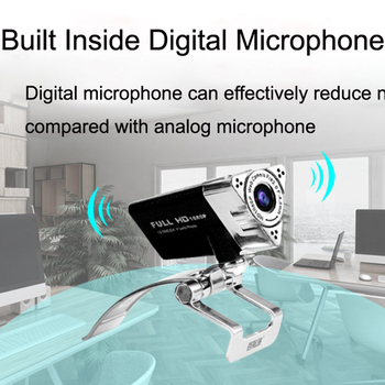 Web Camera Lens HD 1080P Visual 65 Degree Angle Adjustable Focus Manual Rotate Lens With Digital Microphone to Keep Clear Sound 4