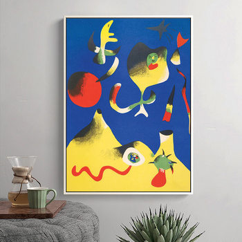 Joan Miro Abstract Paintings Printed on Canvas 4