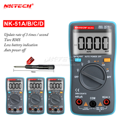 NK51C VS RM101 herramienta de Diagnóstico Multímetro Digital 6000 Cuentas de luz de Fondo AC/DC Ohm Amperímetro Multimetro NK51A NK51B NK51D