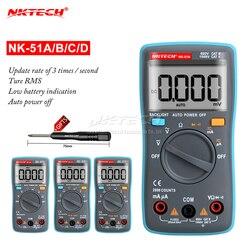 Nktech multímetro digital mini bolso lcd NK-51A NK-51B NK-51C NK-51D verdadeiro rms amperímetro voltímetro ac dc volt amp ohmímetro temp hz