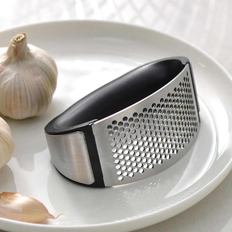 Aço inoxidável manual da imprensa do alho moedor de alho ralador de gengibre imprensa acessórios de cozinha triturador de alho gadget de cozinha