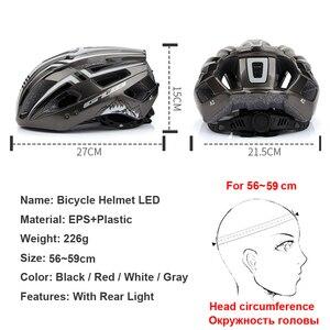 Image 2 - חדש LED אור נטענת יצוק Intergrally רכיבה על קסדת הר כביש אופני קסדת ספורט בטוח כובע לגבר