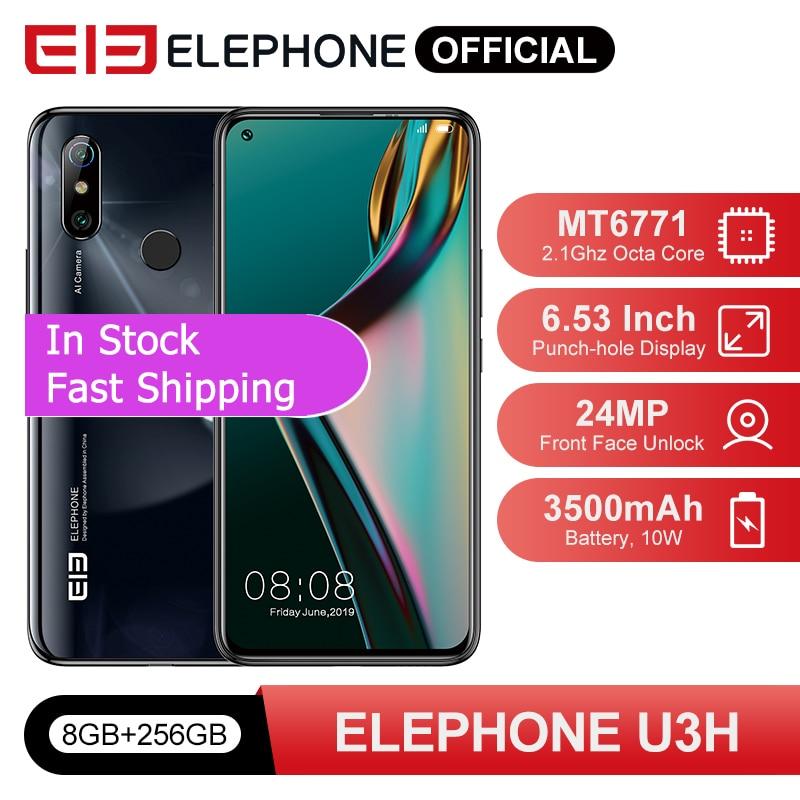 In Stock ELEPHONE U3H Smartphone 8GB 256GB Octa Core Helio P70 6.53