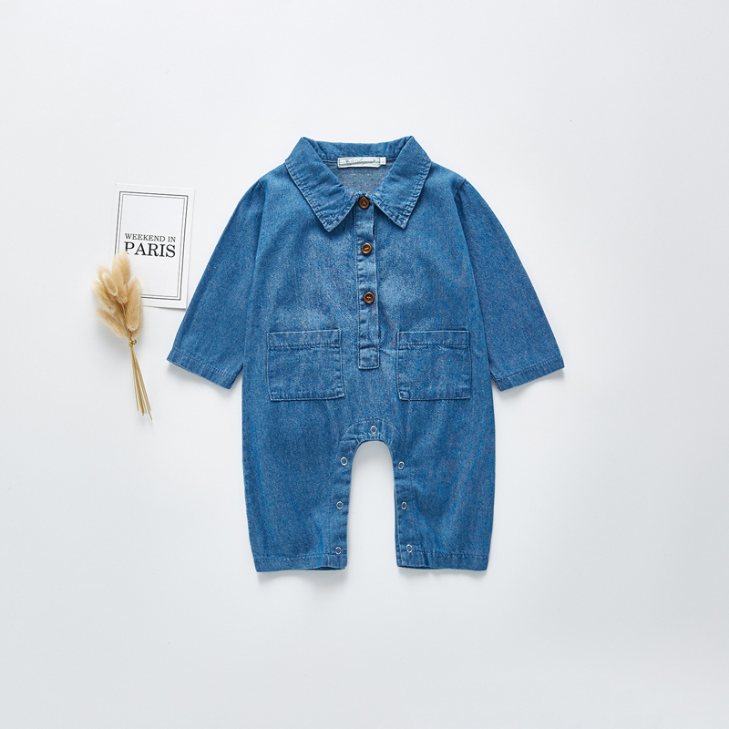 MILANCEL 2020 New Baby Rompers Denim Baby Suit Spring Toddler Girls Outfit