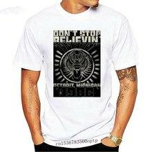 Journey Detroit Don't Stop Believing Men's T Shirt Rock Band Concert Tour Merch