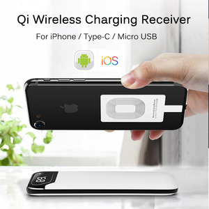 Image 2 - Fast Qi Wireless Charger Receiver For iPhone 6 7 Plus Universal Charging Receiver Adapter Pad Coil For Micro USB Type C Phone