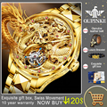 OUPINKE Top Brand Luxury Men Mechanical Automatic Watches Swiss Movement Waterproof Sapphire Mirror Tourbillon Skeleton