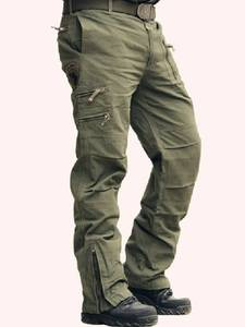 Black Trousers Cargo-Pants Jogger Military-Style Army Male Camouflage Men's Cotton Plus-Size