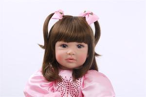 Image 3 - Muñecas de juguete Reborn de silicona de 24 pulgadas para niñas, Niñas de 60cm, princesas como Alive Bebe, Brinquedos, regalo de cumpleaños de colección limitada