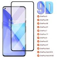 9D Volle Schutz Glas Für Oneplus 9 9R 9E 8T 7 7T 1 + 6 6T Ein plus 5 5T Screen Protector Film Für Oneplus Nord N10 N100 Glas