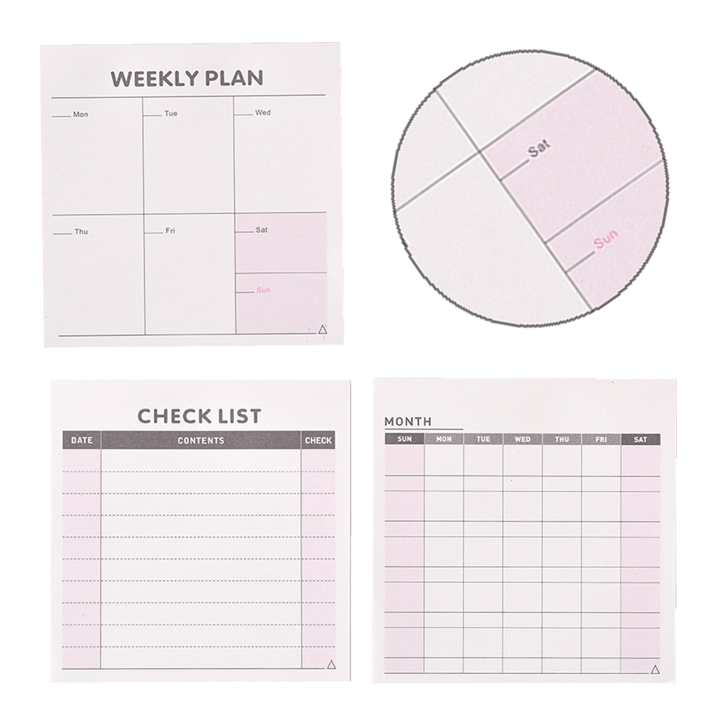 New Daily Weekly Monthly Desk Diary Planner Stickers Planner Planning Pads To Do List Checklist Memo Pad Paper Office