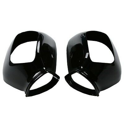 Motorcycle Black Righ/Leftt Side Rear Mirrors Case Cover For Honda GOLDWING GL1800 2001-2017
