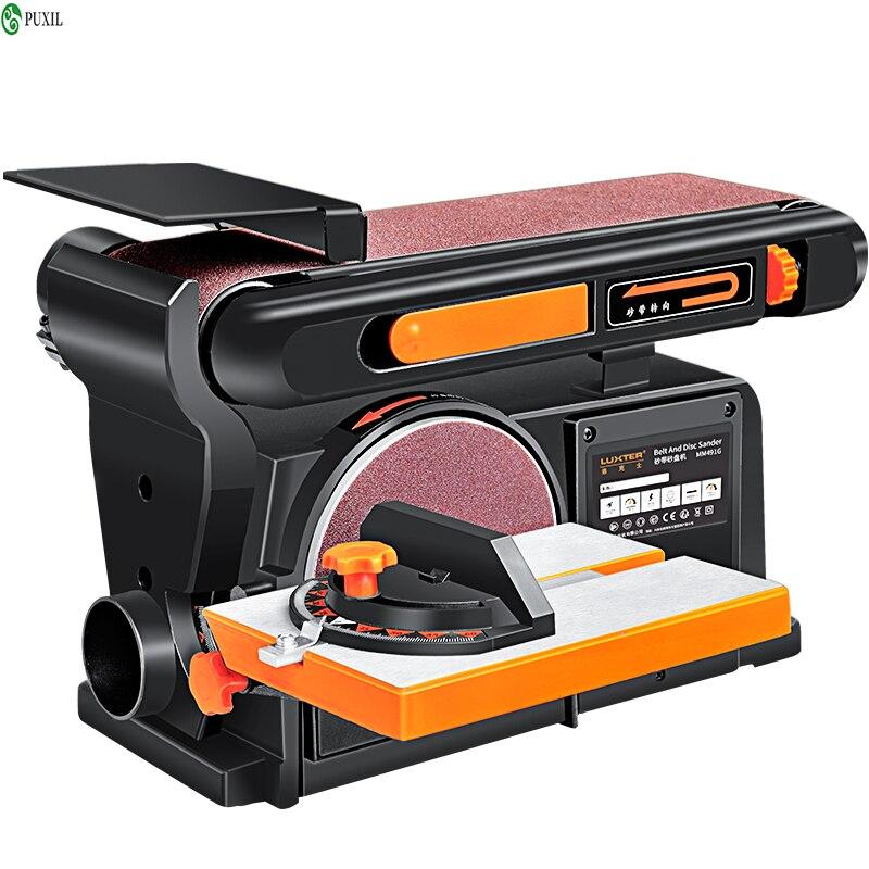 Machine à bande Abrasive multifonctionnelle, Machine à papier de verre, Machine de ponçage de bureau, travail du bois, ponceuse, polisseuse