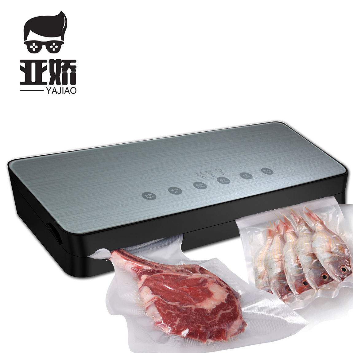 YAJIAO 65KPA Food Vacuum Sealer Packaging Machine With 10pcs Bags Vacuum Food Sealing Machine Vacuum Sealer Packer 220V/110V