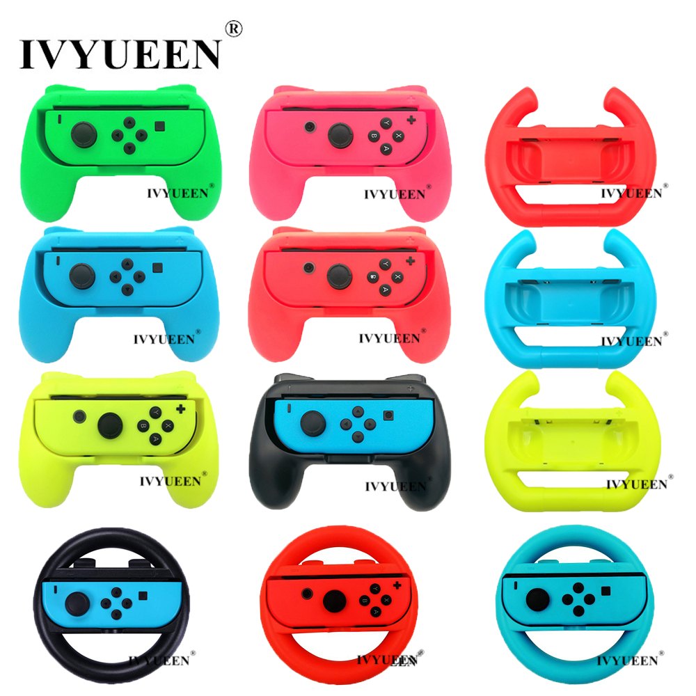 IVYUEEN 2 Pcs Update Version Controller Handle Grips For Nintend Switch NS NX Joy-Con Console Joy Cons Holder - Blue / Green