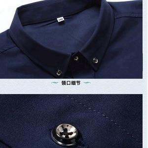 Image 4 - Antumn גדול גודל שמלת חולצות חתונה גברים משרד חולצה ארוך שרוול פורמליות עסקים oversize חולצה 10XL 9XL 12XL 60 56 58 סגול