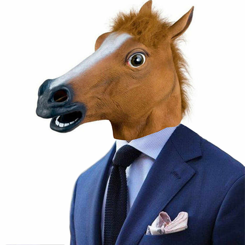 Halloween Rave Mask Accessories Zhabo Frill New Horse Head Latex Prop Style Toys Party Funny Mask 3 Boys Costume Accessories Aliexpress