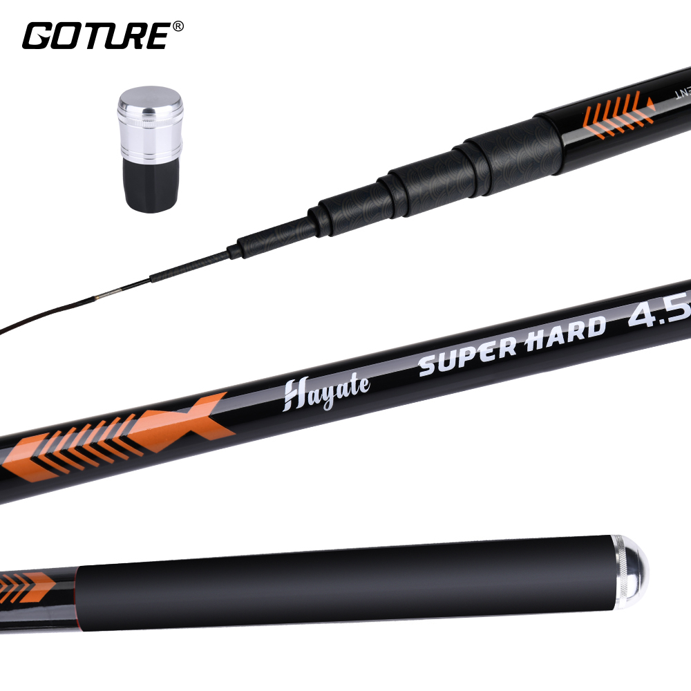 Goture Hayate Stream Telescopic Fishing Rod 3.6M 4.5M 5.4M 6.3M 7.2M Carp Fishing Pole Trout Tenkara Fishing Rod Max Drag 5KG