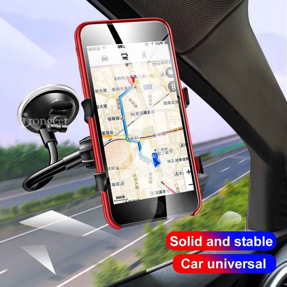 Phone Car Holder Flexible 360 Degree Rotation windshied Car Mount Mobile Phone Holder For Cellphone Car Phone Holder Support GPS