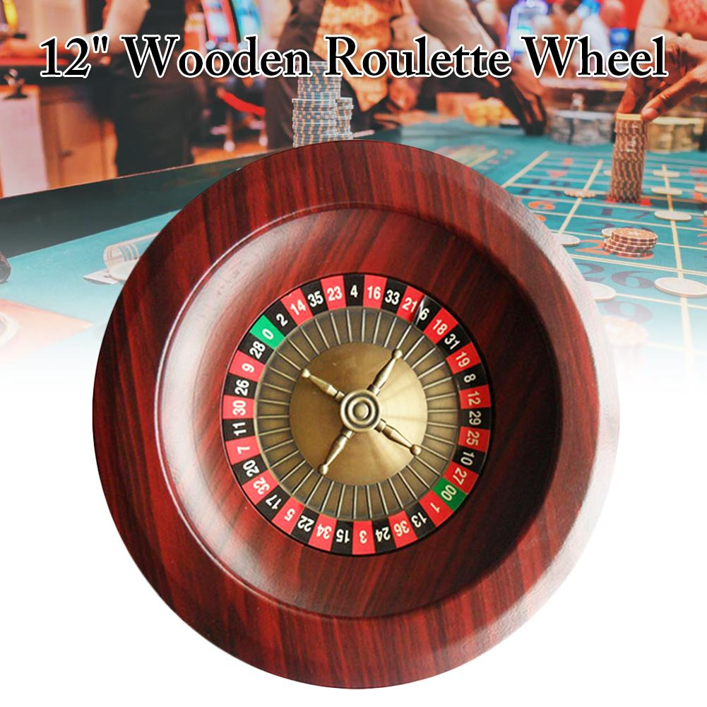 2019 HOT Wooden Turntable Roulette Wheel Set Fun Leisure Entertainment Table Games For Adults Children