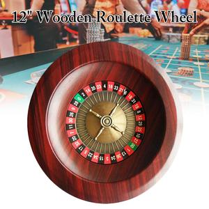 HOT Wooden Turntable Roulette Wheel Set Fun Leisure Entertainment Table Games for Adults Children(China)
