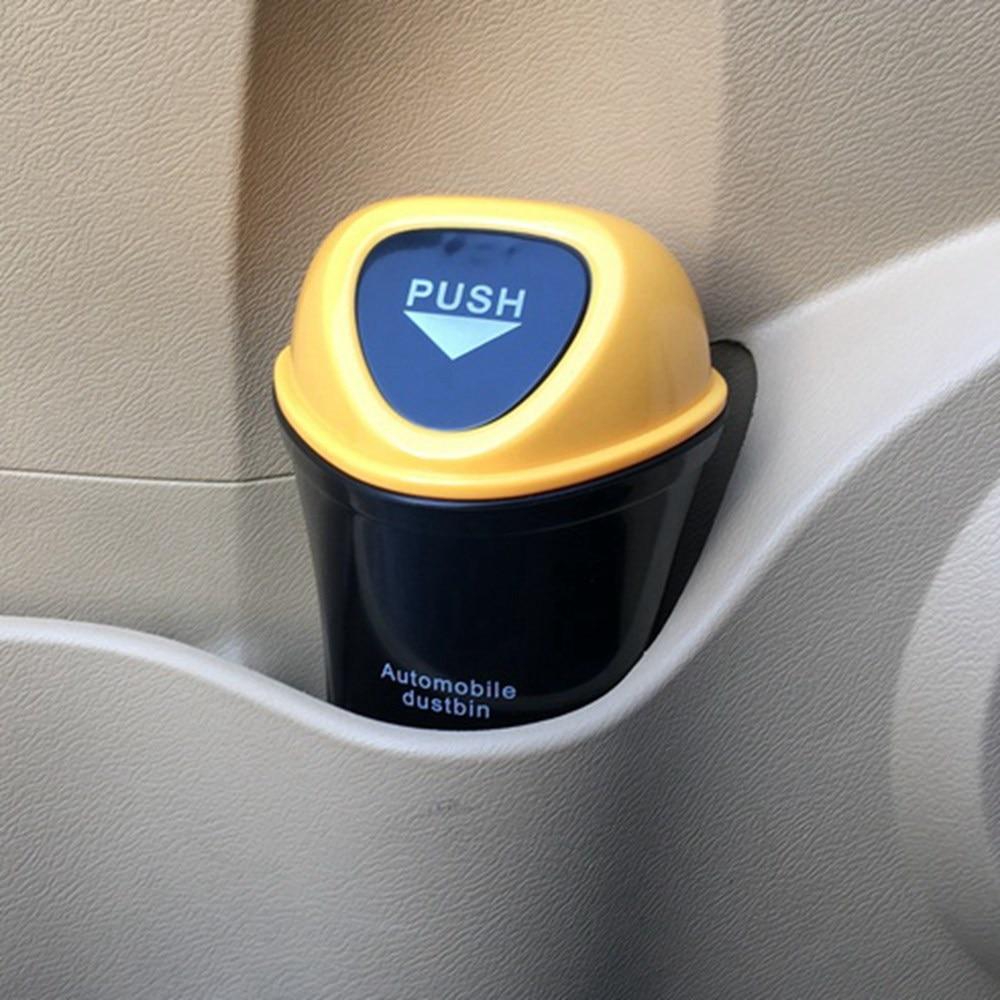 Hot Car Trash Can Organizer Garbage Holder Automobiles Storage Bag Accessories Auto Door Seat Back Visor Trash Bin Paper Dustbin 1