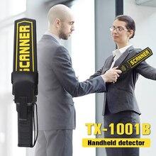 TX-1001B Safety Handheld Metal Scanner 9V Metal Detector High Sensitivity Security Check Stick for Airport Supermarket