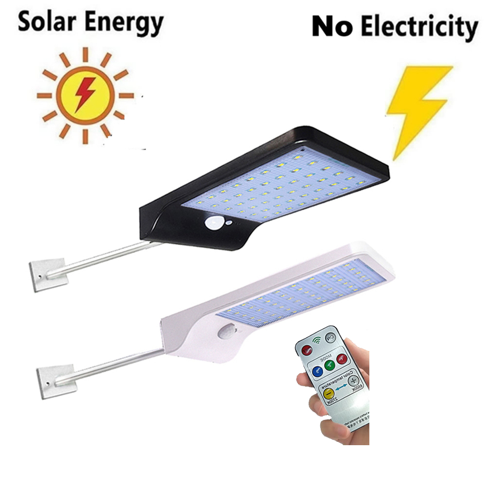 48 LED Solar Ground Light Waterproof Garden Pathway Solar Lamp For Home Yard Driveway Lawn Road White/Warm White Wall+Lamp Garde