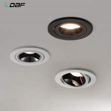 [DBF]2020 새로운 높은 CRI≥ 90 눈부심 방지 LED COB Recessed Downlight 7W 12W 각도 조절 천장 스포트 라이트 주방 거실