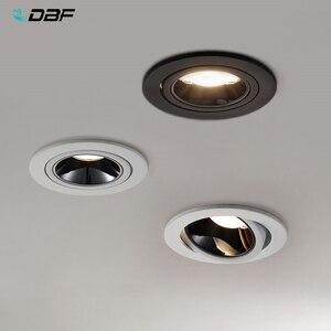 Image 1 - [DBF]2020 Neue Hohe CRI≥ 90 Anti Glare LED COB Einbau downlight 7W 12W Winkel einstellbar Decke Spot Lichter Küche Wohnzimmer