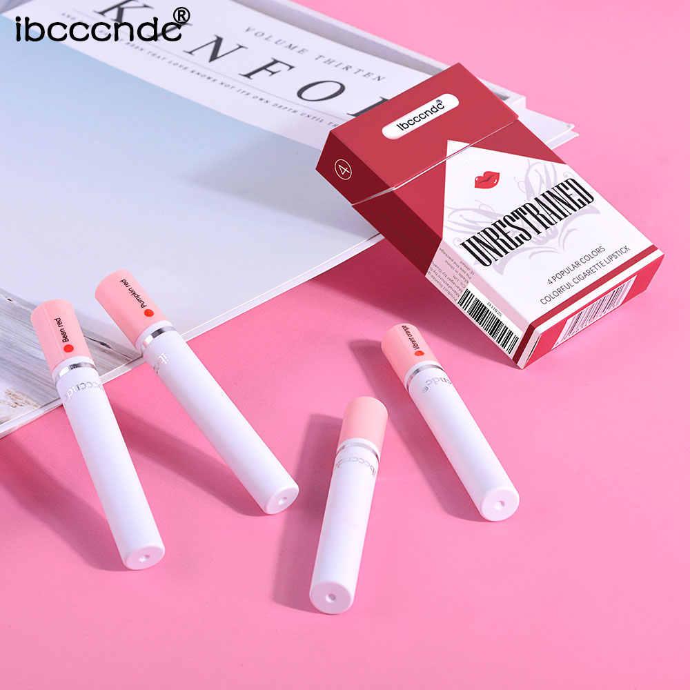 Nieuwe Creatieve Sigaret Lippenstift Set 4 Kleuren Matte Langdurige Waterdichte Matte Lippenstift Buis Naakt Rode Lippen Make-Up Lipgloss