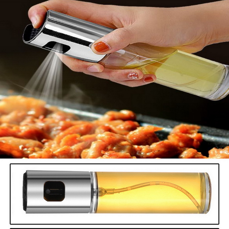 100/200/300ml Baking Cook Oil Spray Empty Bottle Vinegar Bottle Oil Dispenser Cooking Tool Salad BBQ Cooking Glass Oil sprayer