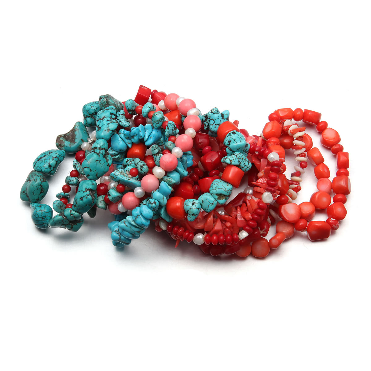 High Quality New Coral Stone Beaded Bracelets for Women Jewelry Coral Beads Charms Bracelet for Women Jewelry Gift 18cm