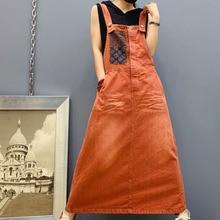 Макси джинсовые платья Дамские мешковатые подтяжки трапециевидные джинсы свободное платье плюс размер нагрудник Ковбойское длинное платье Комбинезоны Ковбойское платье