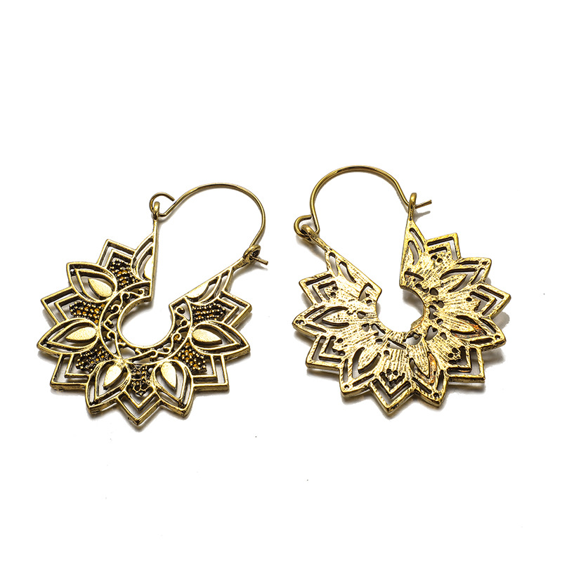 Hea41a8981a8142768e976be8aa79e8355 - Tibetan Silver Color Color Carved Flower Vintage Ethnic Drop Dangle Earrings Retail Jewelry Jewellery Gift For Women