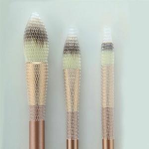 Image 5 - 50/100pcs  Makeup Brushes Net Protector Guard Elastic Mesh Beauty Make Up Cosmetic Brush Pen Cover