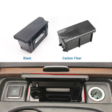 Console central de fibra carbono do carro cinzeiro caixa montagem capa para mercedes benz ml gl gle classe w166 w292 1668100330